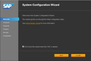 System Configuration Wizard