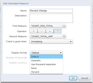 You can now format calculated measures defined in your SAP Explorer Information Space.